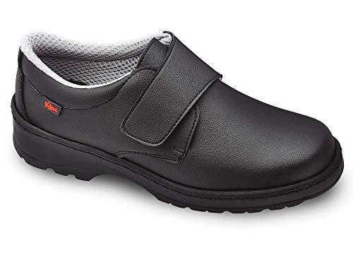 Milan-SCL Liso Color Negro Talla 44, Zapato de Trabajo Unisex Certificado CE EN ISO 20347 Marca DIAN