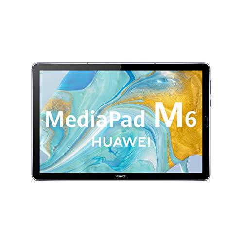 HUAWEI MediaPad M6 - Tablet 10.8' con pantalla 2K de 2560 x 1600 IPS (Wifi, RAM de 4GB, ROM de 64GB, Kirin 980, EMUI 10) Color gris titanio - sin servicios de Google preinstalados