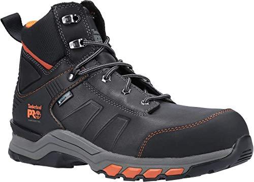 Timberland Pro Botas de seguridad para hombre Hypercharge cuero con cordones negro naranja