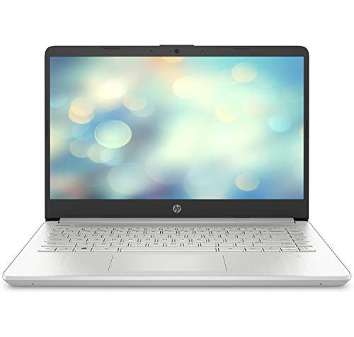 HP 14s-dq1014ns - Ordenador portátil de 14' FullHD (Intel Core i7-1065G7, 8GB RAM, 512GB SSD, tarjeta gráfica integrada Intel Iris, sin Sistema operativo) gris - Teclado QWERTY Español