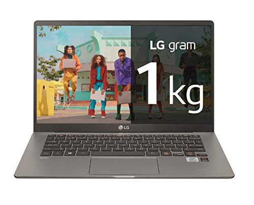 LG gram 14Z90N-V-AA78B - Ordenador portátil ultraligero de 14' FullHD IPS (Intel Core i7-1065G7, 16GB RAM, 512GB SSD, Windows 10 Home+) Plata - Teclado QWERTY Español