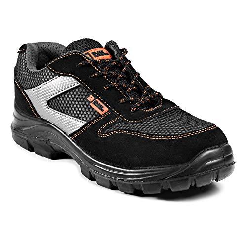 Calzado Deportivo Masculino de Seguridad con Puntera Ultraligera de Zapatos de Trabajo al Tobillo Kevlar S1P SRC 1997 Black Hammer Black Hammer (43 EU)