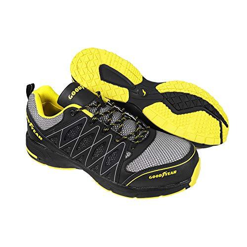 Goodyear GYSHU1502, Zapatillas de Seguridad para Hombre, Negro (Black/Yellow), 42 EU