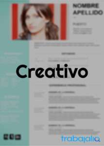 plantilla CV creativo y original a color