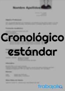 plantilla cv cronológico