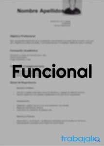 plantilla CV funcional