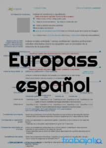 plantilla cv europass en español