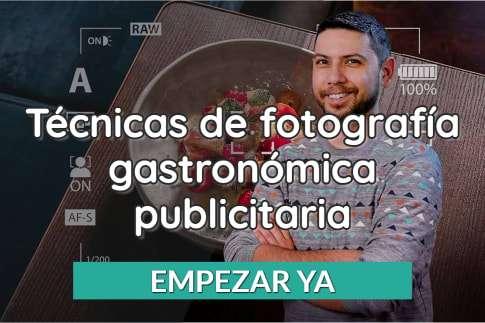 Técnicas de fotografía gastronómica publicitaria