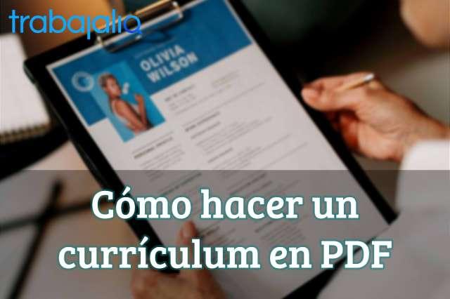 Cómo hacer un currículum en PDF