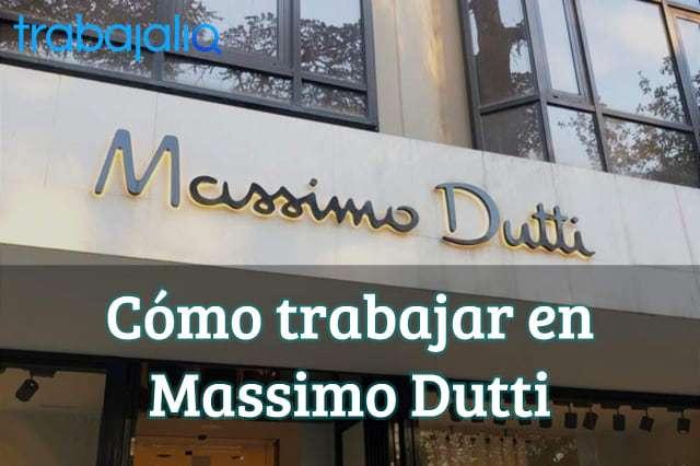 Cómo trabajar en Massimo Dutti